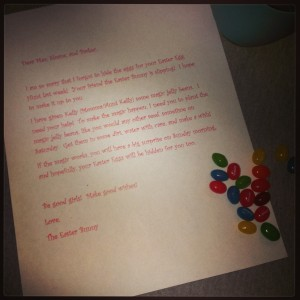 Letter from the Easter Bunny.